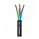 Downlight kabel SORT 230V 3x1,5mm2 til indbygningsspot 90gr.