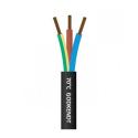 Downlight kabel SORT 230V 3x1,5mm2 til indbygningsspot 70gr.