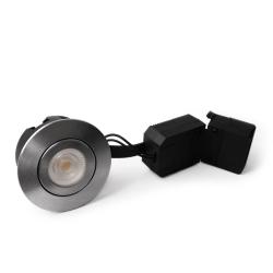 AD5 LED Downlight 230V 6,5W 2700K Ra95 350Lm - Børstet Alu