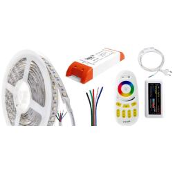 HiluX RGB+2700K LED Bånd Sæt Til 12VDC - 4-i-1 - Ra97 - 5 Meter