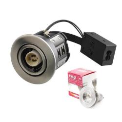 Hilux R8 LED Downlight 5W 230V 3000K 355Lm Ra95 - Børstet Alu
