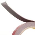 2 meter dobbeltklæbende tape til LED bånd 10mm