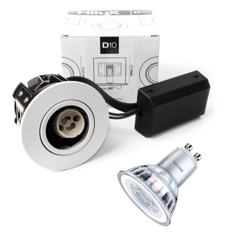 Modernistisk Philips LED Spot 230V 5W 2700K i Hvid - For Udendørs JU62