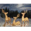 Rensdyr med twinkle effekt og varmt hvidt lys