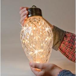 Kæmpe kogle med Twinkle LED