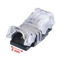 StripClip™ 8mm IP65 bånd-til-Ledning - Single Color LED bånd
