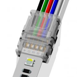 StripClip™ 12mm IP21 Bånd-til-Ledning - RGBW LED bånd