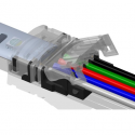 StripClip™ 10mm IP65 Bånd-til-Ledning - RGBW LED bånd