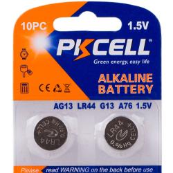 2 stk. PKCELL LR44 knapcellebatterier, 1.5V, 145mAh, Alkaline