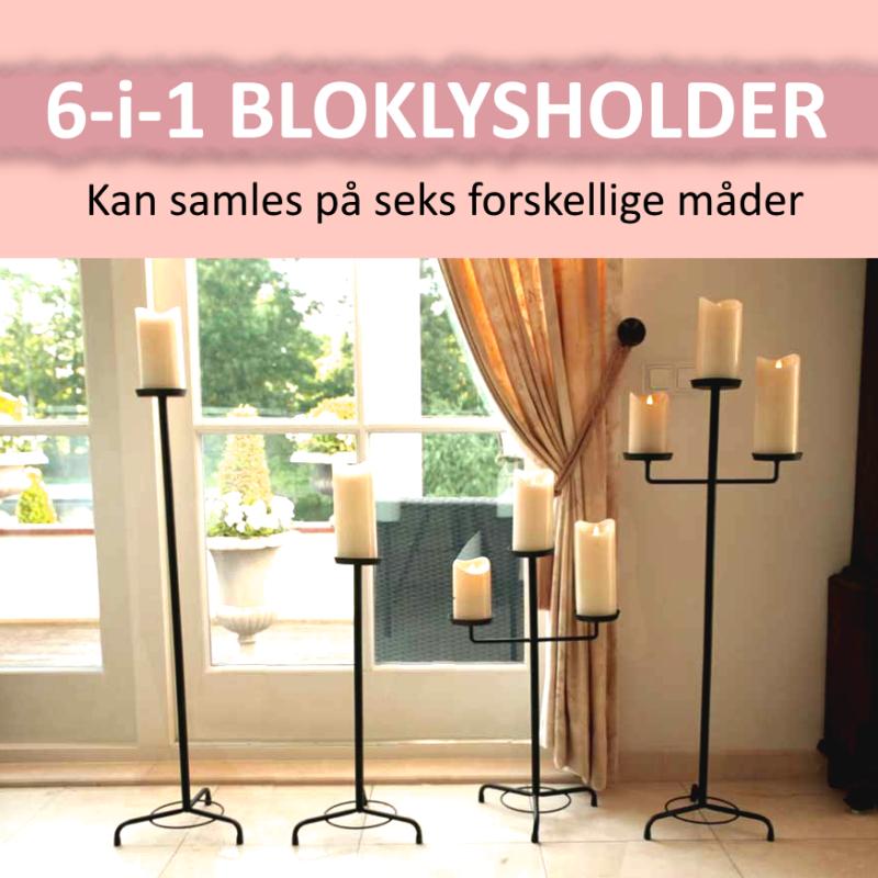 6-i-1 Bloklysholder