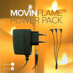 MovinFlame 230V AC adapter til GIGANT LED bloklys