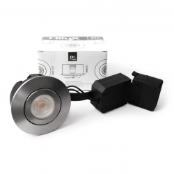AD5 LED Downlight 230V 6,5W 2700K Ra95 350Lm - Børstet Alu