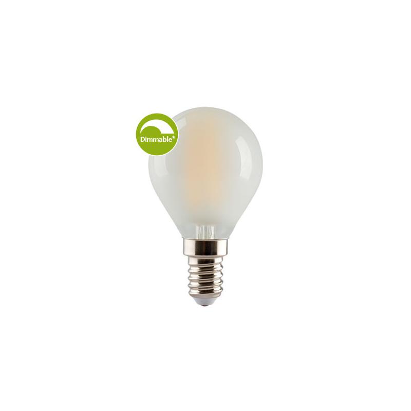 E3 LED E14 Krone pære 4W i 2700K 470Lm Ra90 Dim - 360°