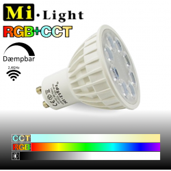 Mi•Light GU10 LED pære 4W RGB+CCT 280-380Lm