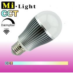 Mi•Light CCT LED pære 9W E27 850LM 2,4GHz