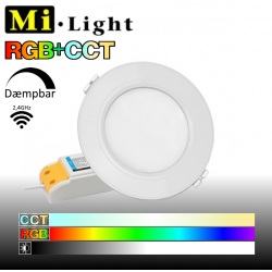 Mi•Light RGB+CCT Downlight LED panel 6W 600LM 120° spredning 2,4GHz