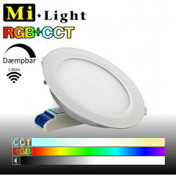 Mi•Light LED panel, RGB+CCT, 6W, 600LM, 2,4GHz