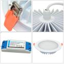 Mi•Light LED panel, RGB+CCT, 86-265V, 15W, IP54, 1200LM, 2,4GHz