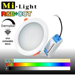 Mi•Light udendørs RGB+CCT LED panel 230V IP54 15W 1200Lm 2,4GHz