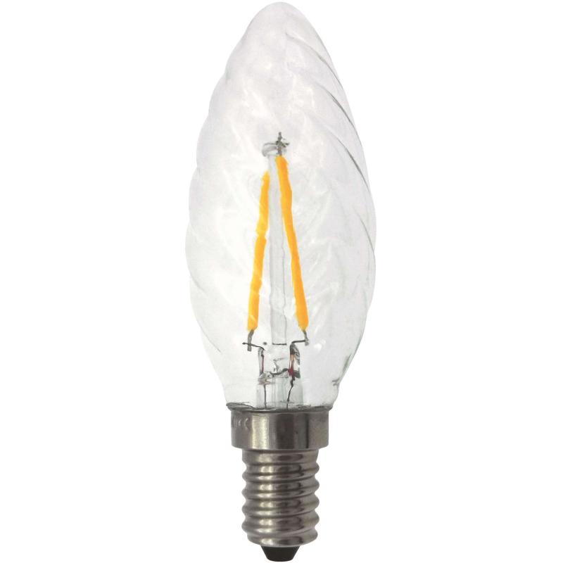 Malmbergs E14 Snoet LED kerte pære 2W 2100K 210Lm