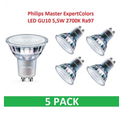 Philips ExpertColor LED GU10 5,5W 2700K Ra97 Dim - 5-PACK