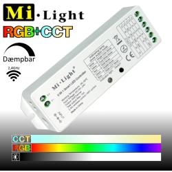 Mi•Light RGB+CCT controller til 8-zoners fjernbetjening/væg-panel