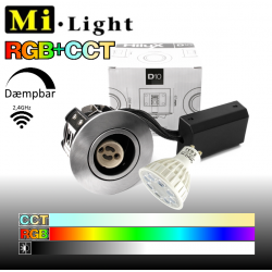 Hilux D10 Spot i Børstet inkl. Mi•Light GU10 LED 4W RGB+CCT