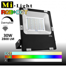 Mi•Light 30W LED Projektør RGB+CCT 2800Lm 2700k-6500k