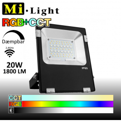 Mi•Light 20W LED Projektør RGB+CCT 1800Lm 2700k-6500k