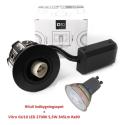 Hilux D10 Indbygningsspot 65mm 230V GU10 i Hvid - For Udendørs