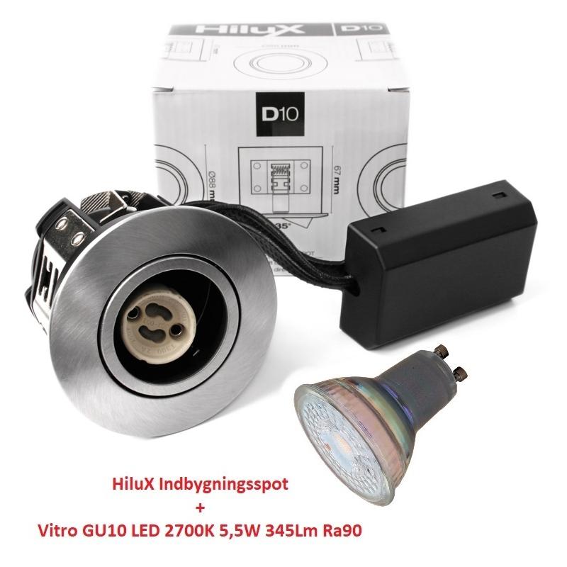 Vitro D10 LED Spot 5,5W 2700K 345Lm Ra90 230V i BS - Udendørs