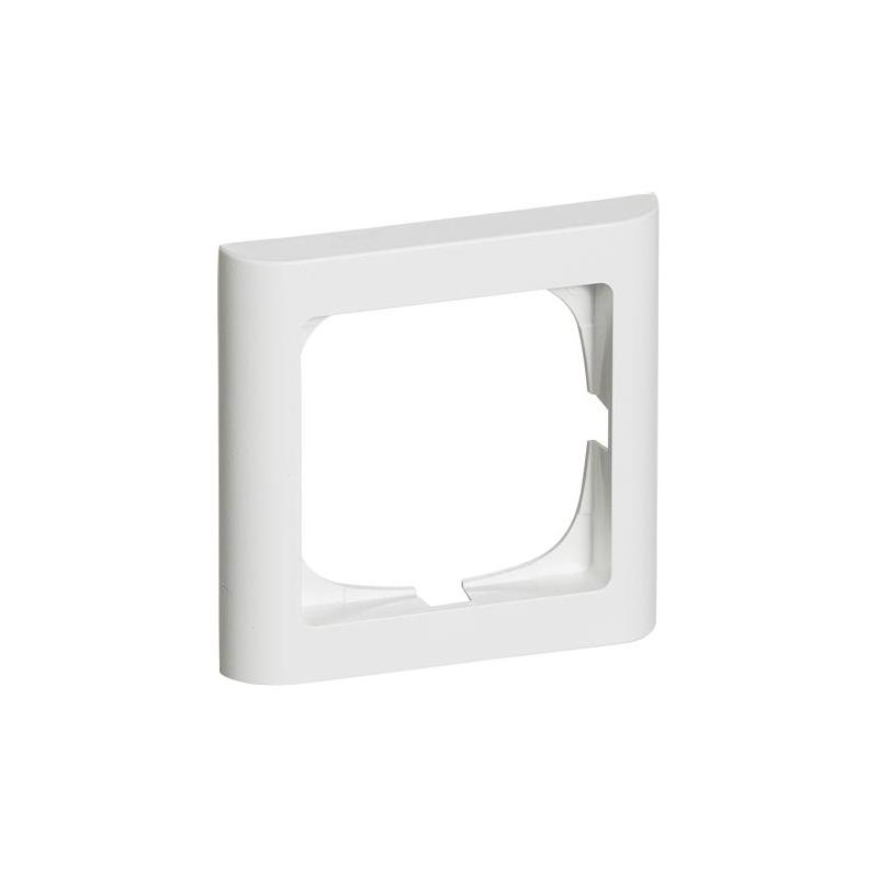 FUGA ramme Softline 63mm 1 modul i hvid