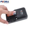 PKCELL 1,6V Ni-Zn Oplader til 4 stk AA eller AAA Ni-Zn batterier