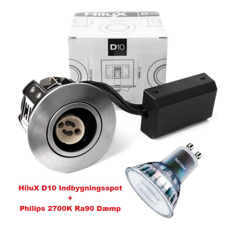 Master Value D10 LED Spot 3,7W i 2700K Ra90 230V - Børstet