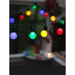 LED Party kæde Med 20 Farvede LED Lys - 10 Meter