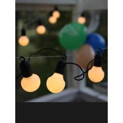 LED Party kæde Med 20 Hvide LED Lys - 10 Meter