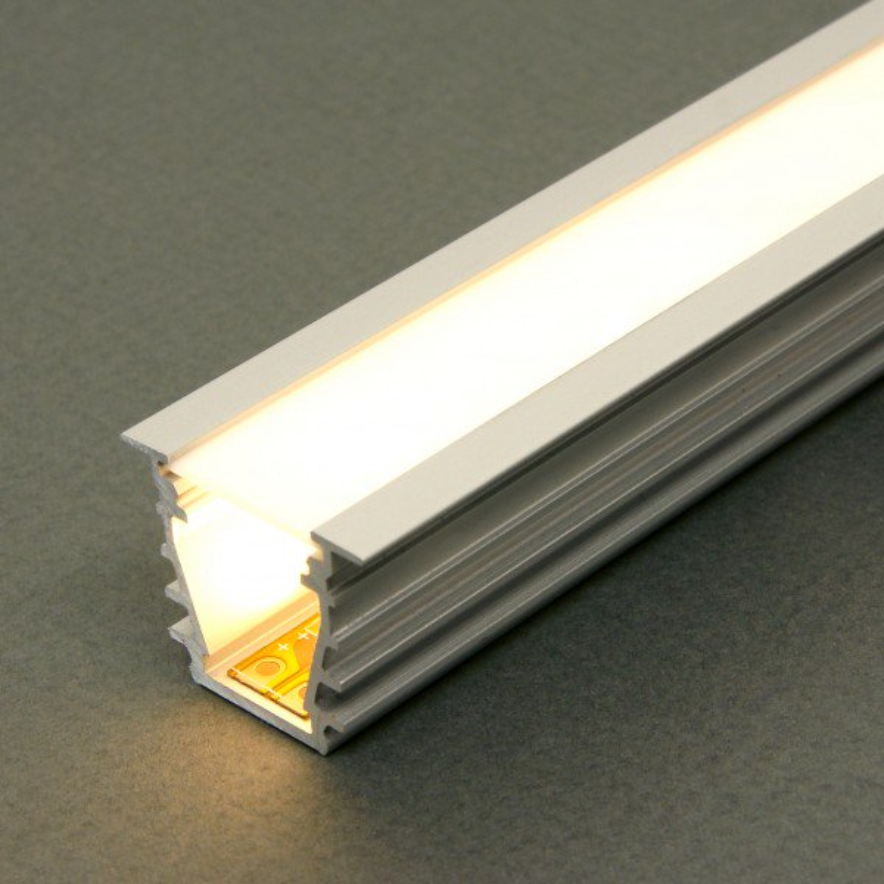 Fremragende Hvid Alu Profil Troldtekt For LED Bånd - 1 Meter TM89