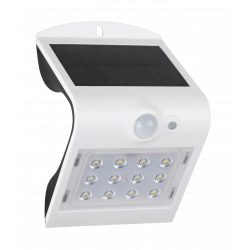 LED solcelle væglampe med sensor IP65 1,5W 220LM 3000K