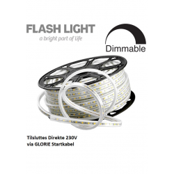 GLORIE LED Strip 230V 3000K IP67