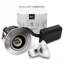 D10 Classic LED spot 230V 4W 250Lm 2700K 65mm - Børstet
