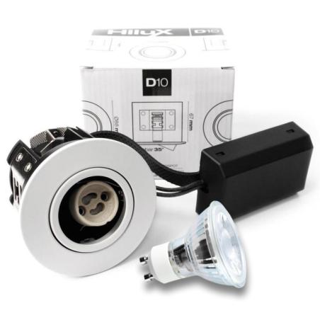 D10 Classic LED spot 230V 4W 250Lm 2700K 65mm - Hvid