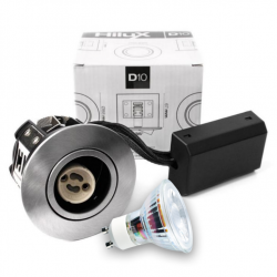 D10 Classic LED spot 230V 345Lm 2700K 4W 65mm - Børstet