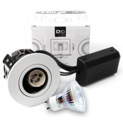 D10 Classic LED spot 230V 345Lm 2700K 4W 65mm - Hvid