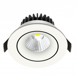 Velia Tilt LED Downlight 10,9W Ra95 230V - Mat Hvid