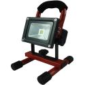 Akku LED Projektør 10W 3000K 12V/230V Genopladelig