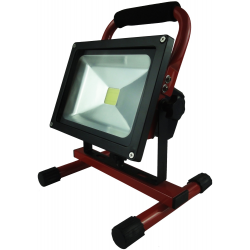 Akku LED Projektør 20W 3000K 12V/230V Genopladelig