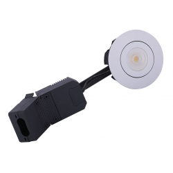 AD5 LED Downlight 230V 6,5W 2700K Ra95 350Lm i Hvid - 60°