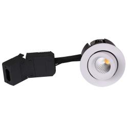 HiluX D12 LED Downlight 230V 9W 3000K Ra96 600Lm i Hvid - Udendørs