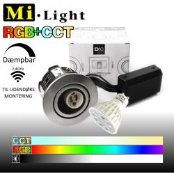 Hilux D10 udendørs indbygningsspot med Mi•Light RGB+CCT LED pære