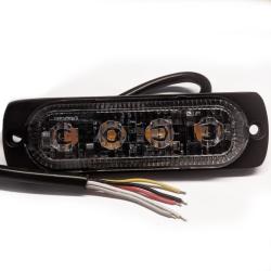 DIO LED Blitz Blink 4x2W i Gul Til 12V-24V